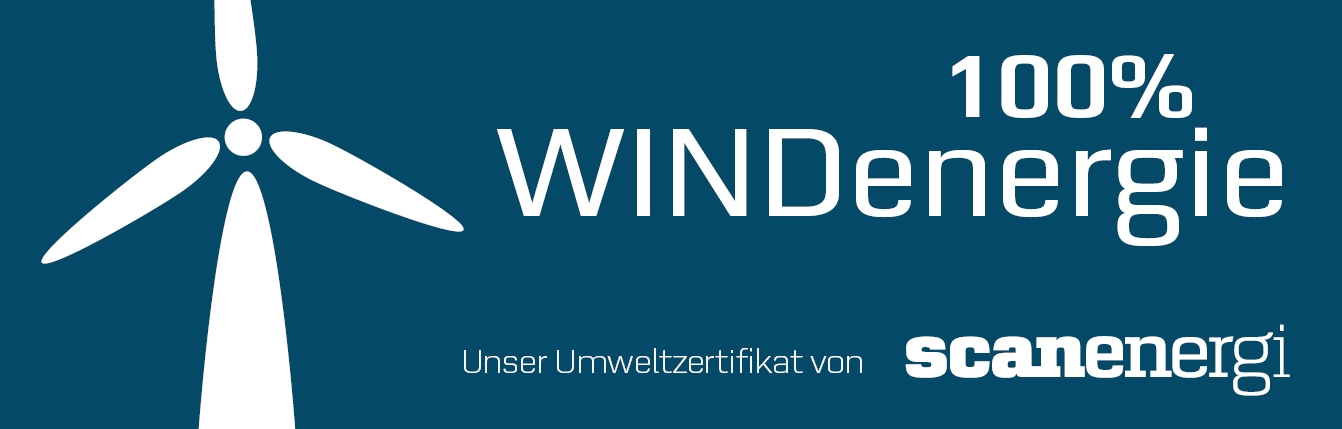 Produktion mit 100% Windenergie